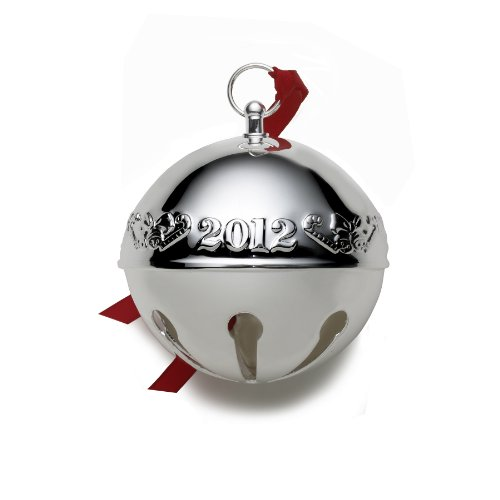 Wallace 2012 Silver Plated Sleigh Bell Ornament, 42nd Edition Wallace Silver Plated