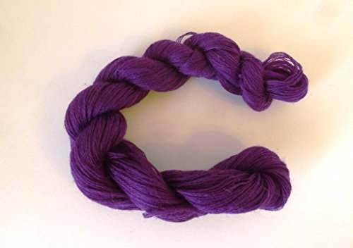 (Grape Purple Cashmere Blend Fingering Weight Crochet / Knitting Yarn)