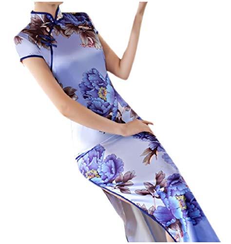 1 Cheongsam Pencil Women Dress Evening Print Split Chinese Coolred Bridal AwPTORnzq