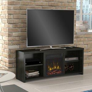 Amazon.com: Huntington Electric Fireplace TV Stand in Black Walnut ...