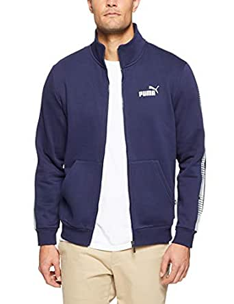 PUMA Men's Tape Track Jacket, Peacoat, S