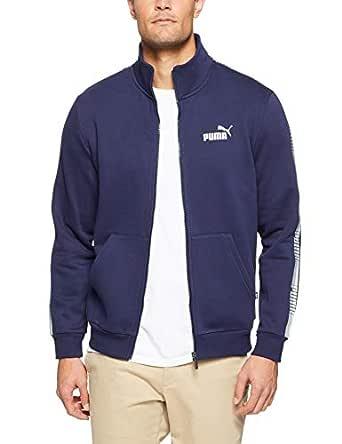 PUMA Men's Tape Track Jacket Peacoat, Peacoat, Large