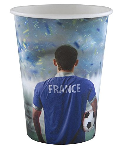 Chal - 20 vasos de cartón de campeones de fútbol: Amazon.es ...