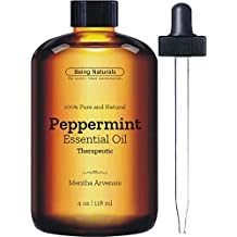 Therapeutic Peppermint Essential Oil - Huge 4 OZ - 100% Pure & Natural – Premium Peppermint oil with Glass Dropper