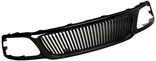 Ford F-150 Vertical Grille (Spec-D Tuning HG-F15099JMVT Ford F150 Expedition Glossy Black Hood Vertical Grill Grille ABS)
