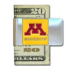 NCAA Minnesota Golden Gophers Steel Money Clip