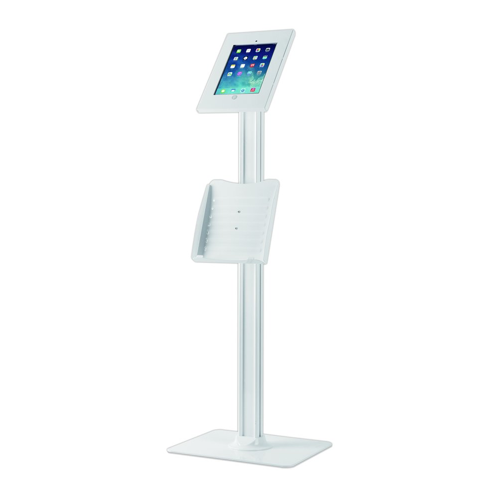 Pyle Secure Anti Theft Tablet Kiosk with Key + Lock - Display iPad Android Device Heavy Duty Mounted Enclosure