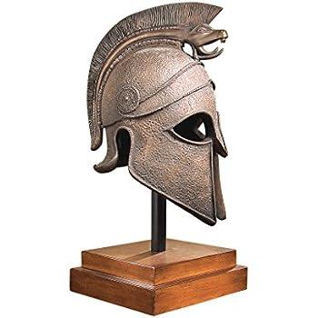 Design Toscano Macedonian Battle Helmet Museum Sculpture, bronze