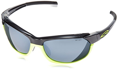 Cheap Smith Optics PivLock Overdrive Sunglasses, Black Neon Frame, Platinum/Ignitor/Clear Lenses