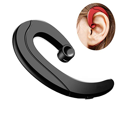 Bluetooth Headset Non Ear Plug Wireless Headphones Music Sport Earphones Noise Cancelling Earpieces Earhook with Microphone Hand Free Painless Wearing Music Earbuds for Running Business (Wearing Bluetooth Headset)