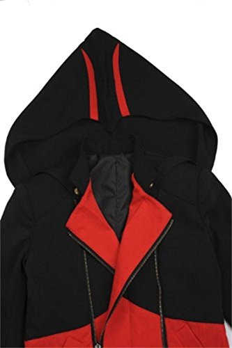 Cosplay Costume Hoodie/Jacket/Coat-9 Options for the fans,Black with Red,Men Large by BuyChic (Image #1)