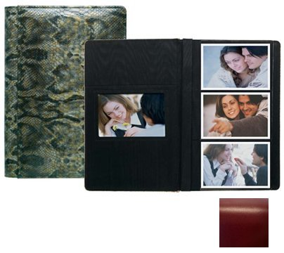 ROMA RED grain leather #127 album with 3-at-a-time pages by Raika - 4x6 by Raika®