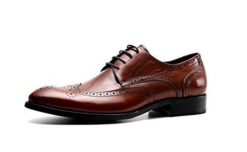 da Scarpe uomo britannico suola uomo Large 44 casual Dark Scarpe 37 Pelle XIE Scarpe da Size brown Business bovina stile 01F4z