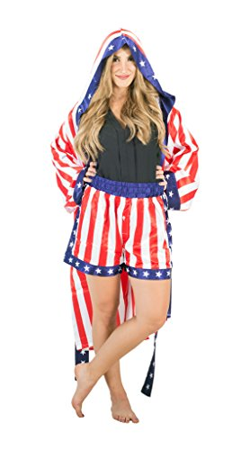 Rocky Apollo Creed Satin Robe with Boxer Shorts