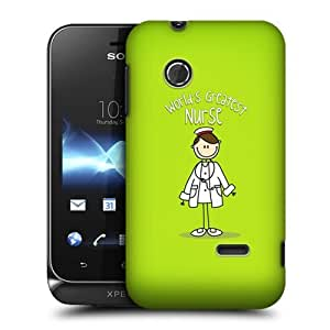 TopFshion Designs Nurse World's Greatest Profession Protective Snap-on Hard Back Case Cover for Sony Xperia tipo ST21i