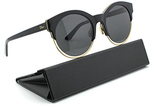 Christian Dior Sideral 1/S Round Women Sunglasses (Black Rose Gold Frame, Grey Lens - Dior Sideral
