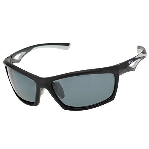 Duco Polarized Sunglasses for all Outdoor sports and 100% TR 90 Flexible Frame 6211 Black
