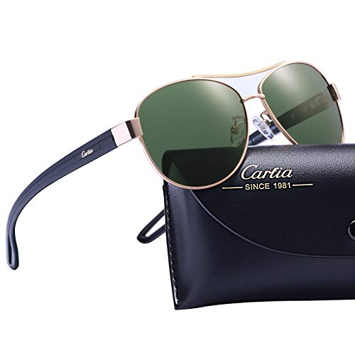 Carfia Polarized Sunglasses For Women Sun?S Rays Protection Lightweight Comfort Design, Green Lens