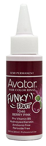 Avatar Funky Fruit Semi-permanent Hair Color Rinse 2.8 oz Berry Pink