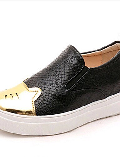 ZQ Zapatos de mujer-Plataforma-Creepers / Comfort-Mocasines-Exterior / Oficina y Trabajo / Deporte / Laboral / Casual-PU-Negro / Blanco , white-us8.5 / eu39 / uk6.5 / cn40 , white-us8.5 / eu39 / uk6.5 black-us8.5 / eu39 / uk6.5 / cn40