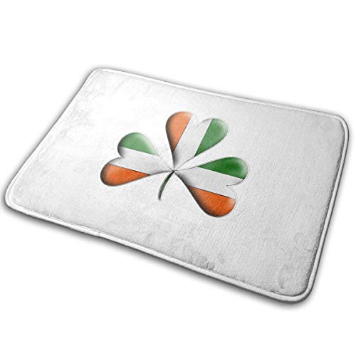 FMFCCAR Irish Flag Tri Colors Themed Shamrock Outdoor Indoor Mat Room Rug Carpet 15.8