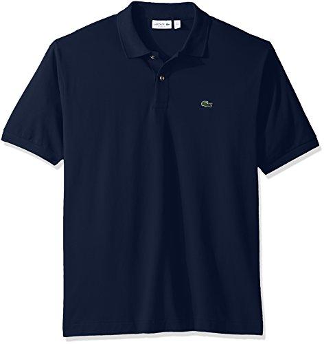 Lacoste Men's Classic Short Sleeve L.12.12 Pique Polo Shirt,Ship Blue,Large (Short Sleeve Pique Shirt)