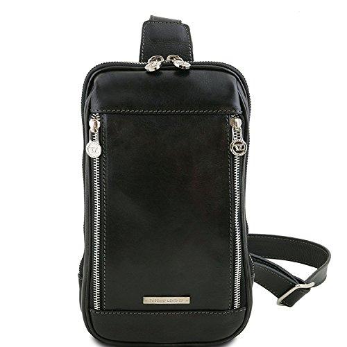 Tuscany Leather Martin - Monospalla in pelle Marrone - TL141536 (Miele) Nero