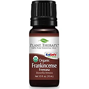 Plant Therapy Frankincense Frereana Organic Essential Oil | 100% Pure, USDA Certified Organic, Undiluted, Natural Aromatherapy, Therapeutic Grade | 10 milliliter (1/3 ounce)