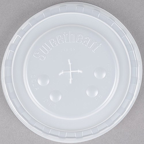- Dart Solo L44BN-0100 32-44 oz. Translucent Plastic Lid with Straw Slot and Identification Buttons 960/Case