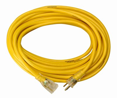 Yellow Jacket Power Cord, 12/3 AWG, 50ft Coleman Cable