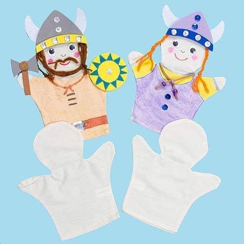 Baker Ross Marionetas de mano de tela que los ni/ños pueden pintar y decorar para teatros de marionetas . pack de 6