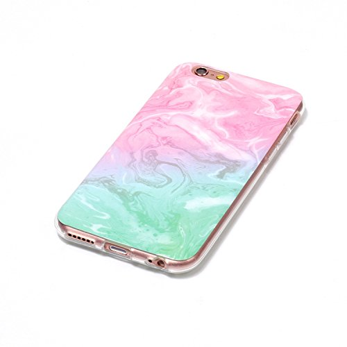 GR Case Cover TPU per Apple IPhone 6 & 6s Inoltre, la copertura posteriore flessibile molle Thin & Cover Leggero Colorful TPU pretective Silicone Case ( Color : C )