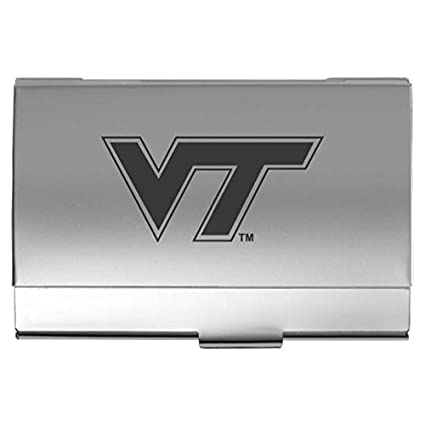 Amazon Virginia Tech Two Tone Business Card Holder Silver