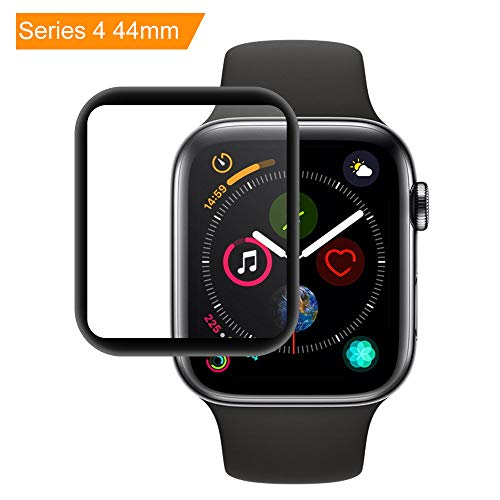 Apple Watch 44mm Screen Protector for Apple Watch Series 4 EZZKE HD Clear Tempered Glass Screen Protector Cover Apple Watch 3D Full Coverage Scratch Proof Screen Film
