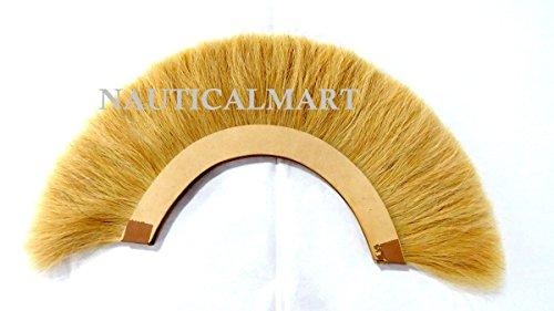 NAUTICALMART Yellow Plume for Roman Centurion Helmets - Natural Horse Hair Yellow Plume Armor SCA by NAUTICALMART