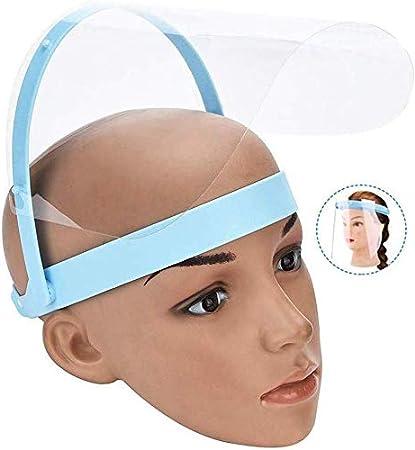 YYKAKUAN Protector de la Cara de la película de protección Facial Anti-Saliva Cubierta 10 Piezas Visor de protección