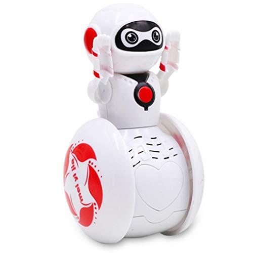 Oliote Mini Tumbler Robot Cartoon Multi-Function Induction Intelligent Music Robot Balancing Robotics