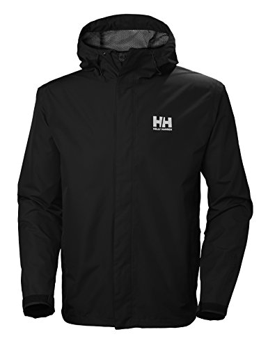 Helly Hansen Men's Seven J Waterproof Windproof Breathable Rain Coat Jacket, 992 Black, X-Large from Helly Hansen