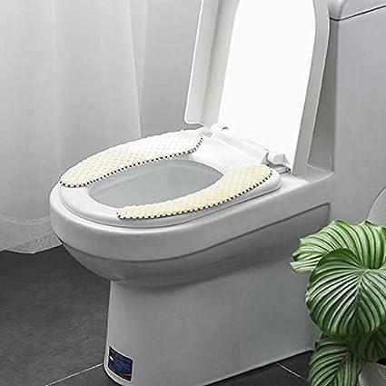 Color : Blue Toiletten-Matte Winter-Thick Toilettensitzabdeckung Kissen aus Samt WC Aufkleber Toile Cover Universal waschbar Zubeh/ör for das Badezimmer