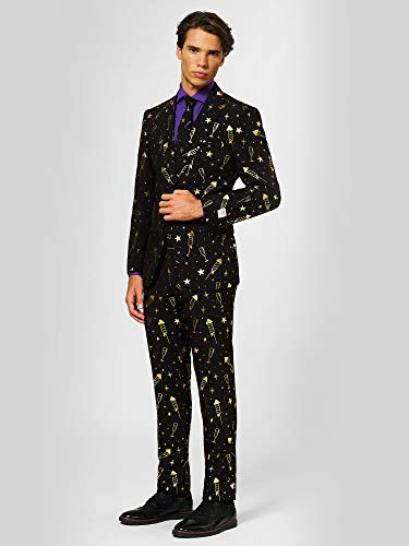 OppoSuits Christmas Suits for Men in Different Prints - Ugly Xmas Sweater Costumes Include Jacket Pants & Tie -