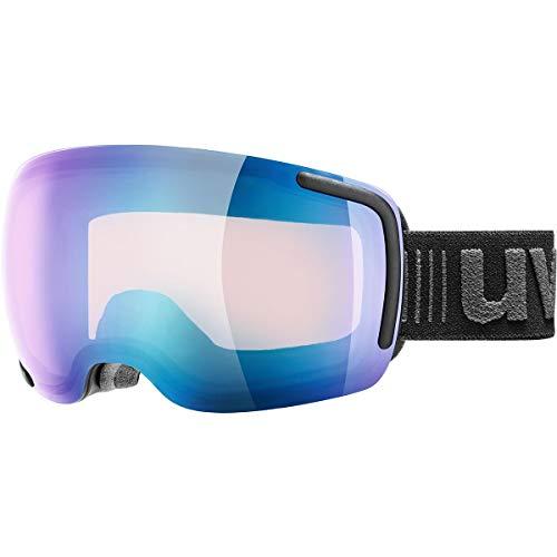 Uvex Big 40 VFM Ski Goggle - Black Mat with Blue Lens