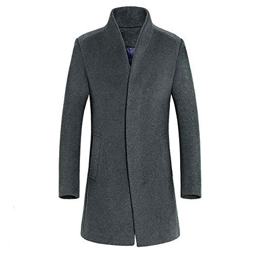(SSYUNO Big Sale Formal Men's Jacket Warm Winter Trench Long Outwear Button Smart Overcoat Coats)