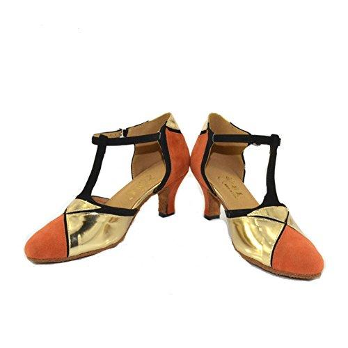 Shoes Dancing Ballroom Women's Dance Soft A Heels Dance GUOSHIJITUAN Shoes Bottom High Latin Shoes 1YUqF