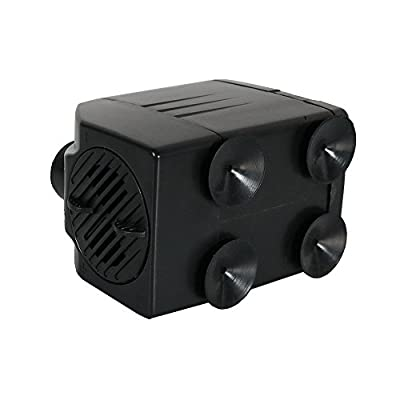 Sunnydaze Submersible Water Fountain Pump, Indoor or Outdoor Use for Fountains, Hydroponics, Aquaponics, 2 Nozzles, 120 Volts, 120 GPH