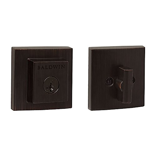 Prestige 380 SDB 11P SMT Deadbolt with Square Rose, Single Cylinder Smart Key, Venetian Bronze by Prestige