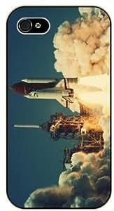 iPhone 5C Space shuttle launch - black plastic case / Space, Stars, Fantasy