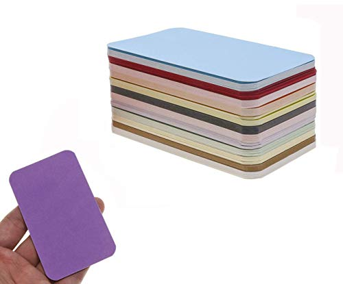 Penta Angel 120Pcs Color Blank Cards Set Note Paper Message Word Card DIY Tag Gift Card Mini Small Blank Cards for Business Birthday Party, 12 Colors