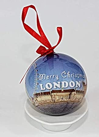 Image Unavailable - London England Souvenir Collectible Christmas Ball Ornament