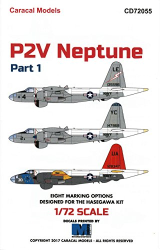 CARCD72055 1:72 Caracal Models Decals - P2V Neptune Part 1 [WATERSLIDE DECAL SHEET]