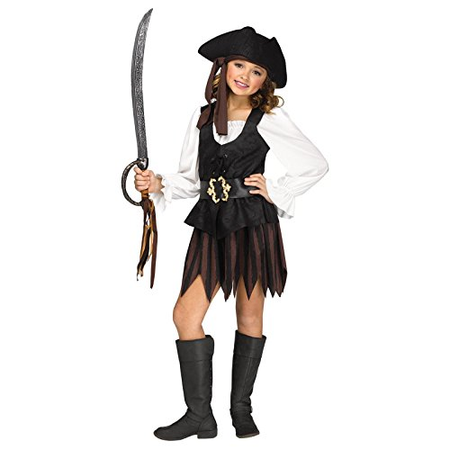 Rustic Pirate Maiden Child Costume (Maiden Of The Sea Pirate Hat)